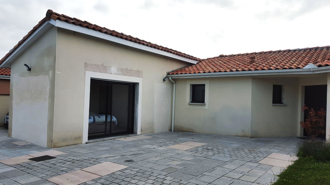 Rénovation de façade de maison à Toulouse avant