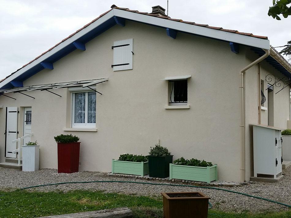 Rénovation de façade à Grazac