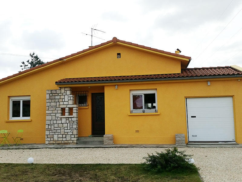 Ravalement de façades à Muret après