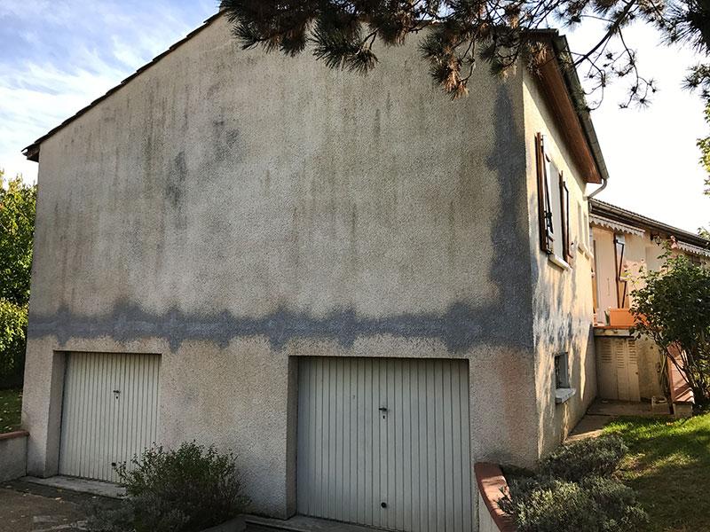 Rénovation de façades de maison à Roquettes avant