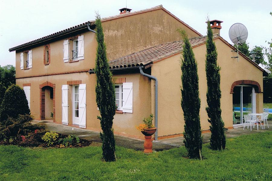 Rénovation de façade de maison à Aigrefeuille avant