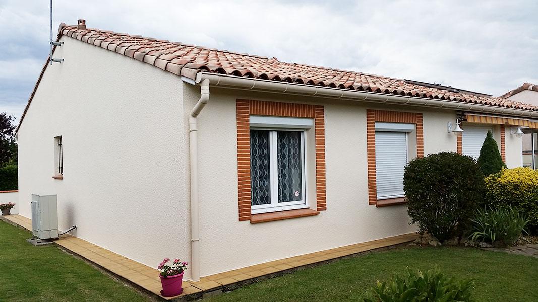 Rénovation de façade de maison à Cugnaux après