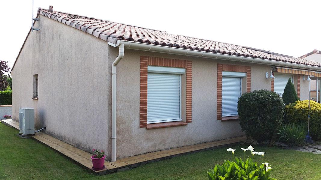 Rénovation de façade de maison à Cugnaux avant