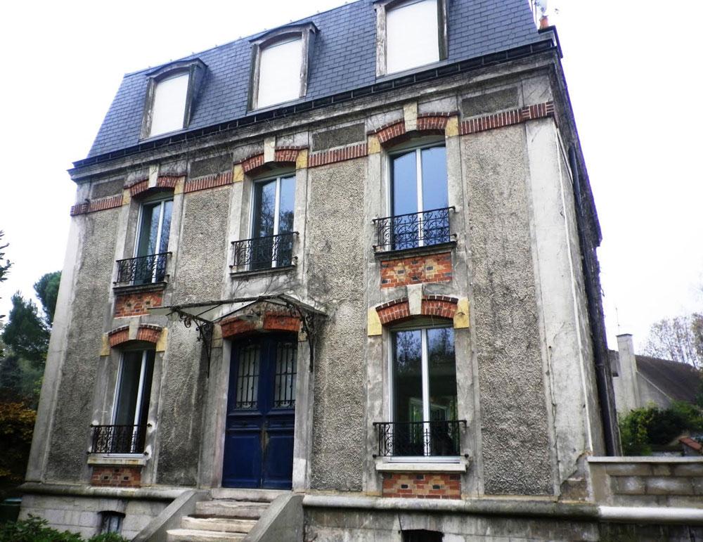 Rénovation des façades d'un hôtel particulier à la Mansart 1890 face au Bois de Vincennes avant