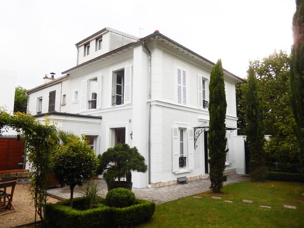 Rénovation des façades d'un Clos Bourgeois 1910 à La Varenne-Saint-Hilaire après