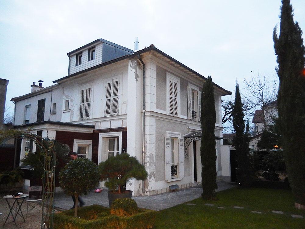 Rénovation des façades d'un Clos Bourgeois 1910 à La Varenne-Saint-Hilaire avant