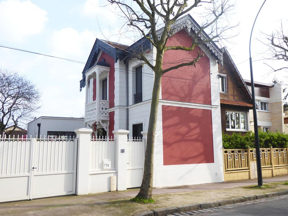 Rénovation des façades d'anciennes écuries 1880 transformées en habitation après