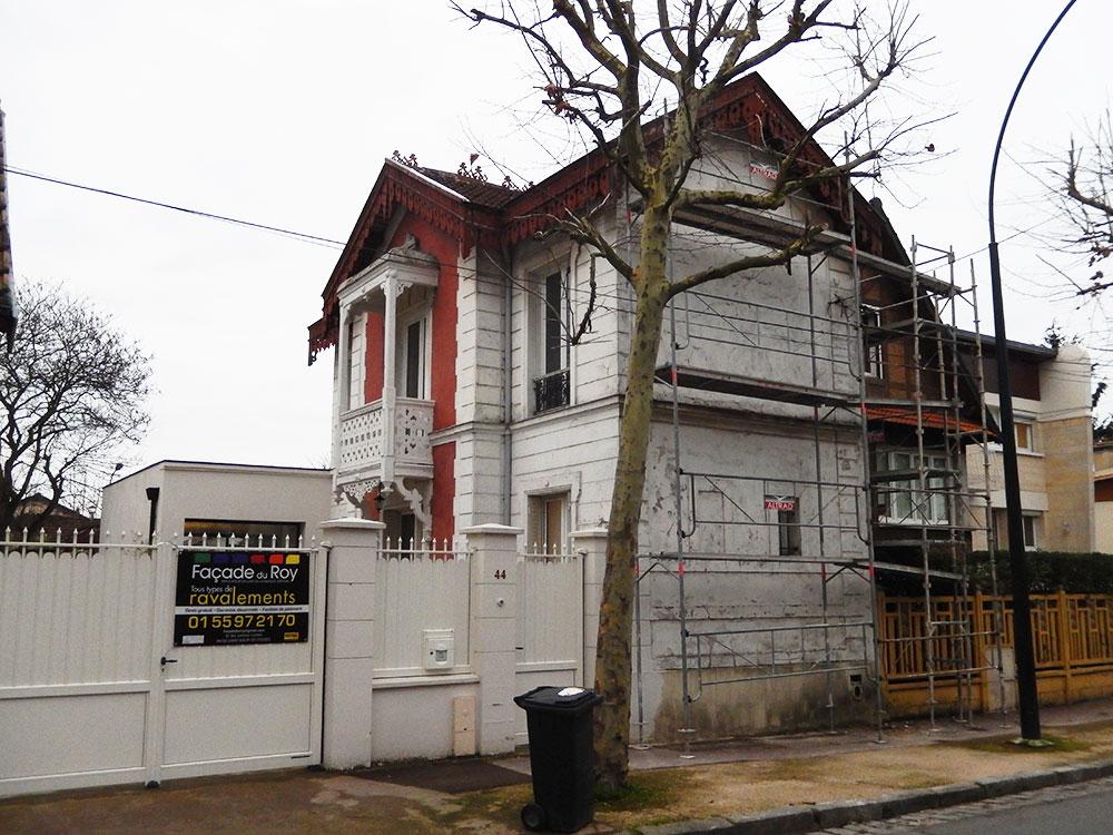Rénovation des façades d'anciennes écuries 1880 transformées en habitation avant