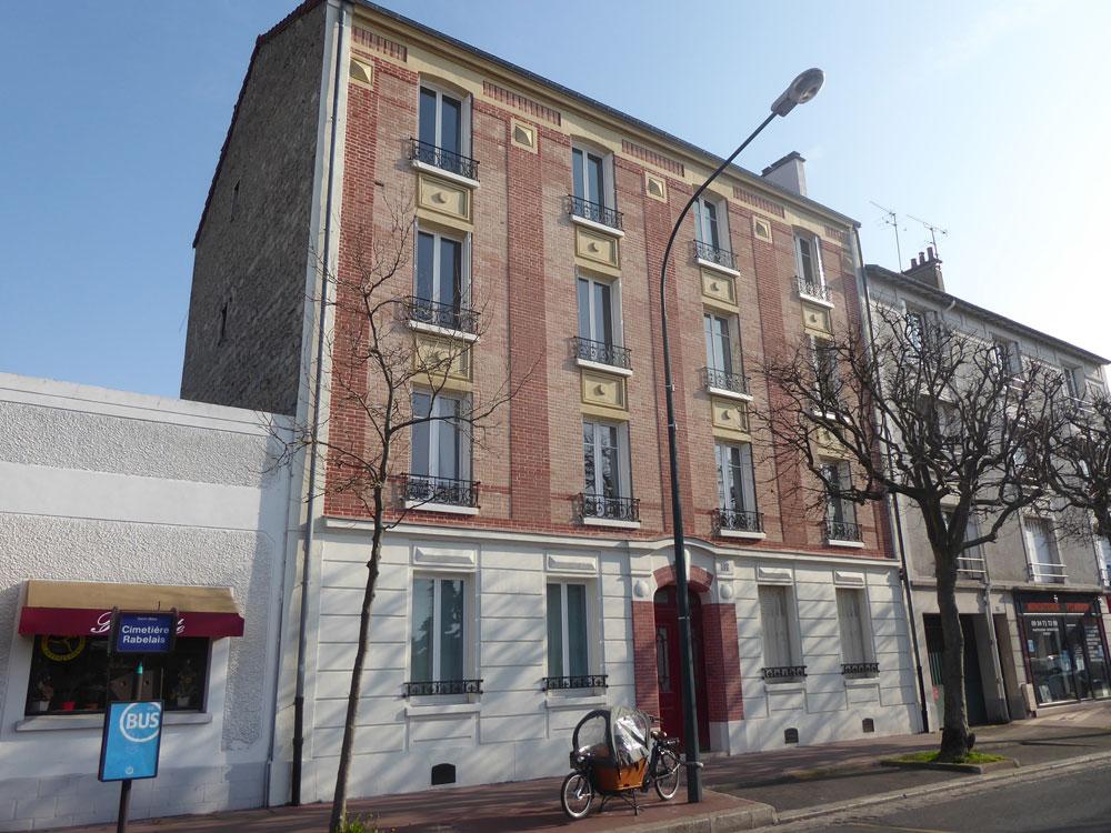 Rénovation des façades d'un immeuble bourgeois 1930 après