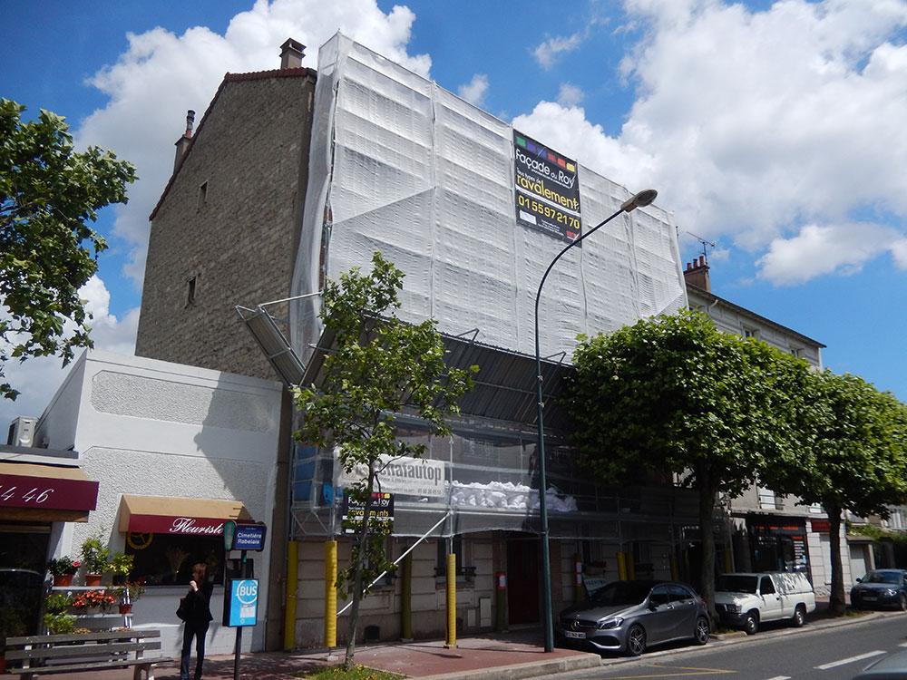 Rénovation des façades d'un immeuble bourgeois 1930 avant